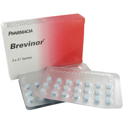 Brevinor 3x21 Tabletten Verpackung mit Blisterpackung