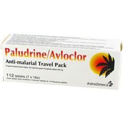 Paludrine / Avloclor mit Proguanil / Chloroquin Verpackung
