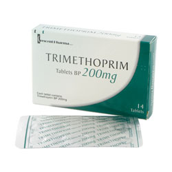 Trimethoprime 14 mal 200mg Tabletten Verpackung und Blisterpackung