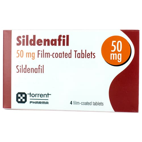 Pack of 4 Sildenafil 50mg film-coated tablets