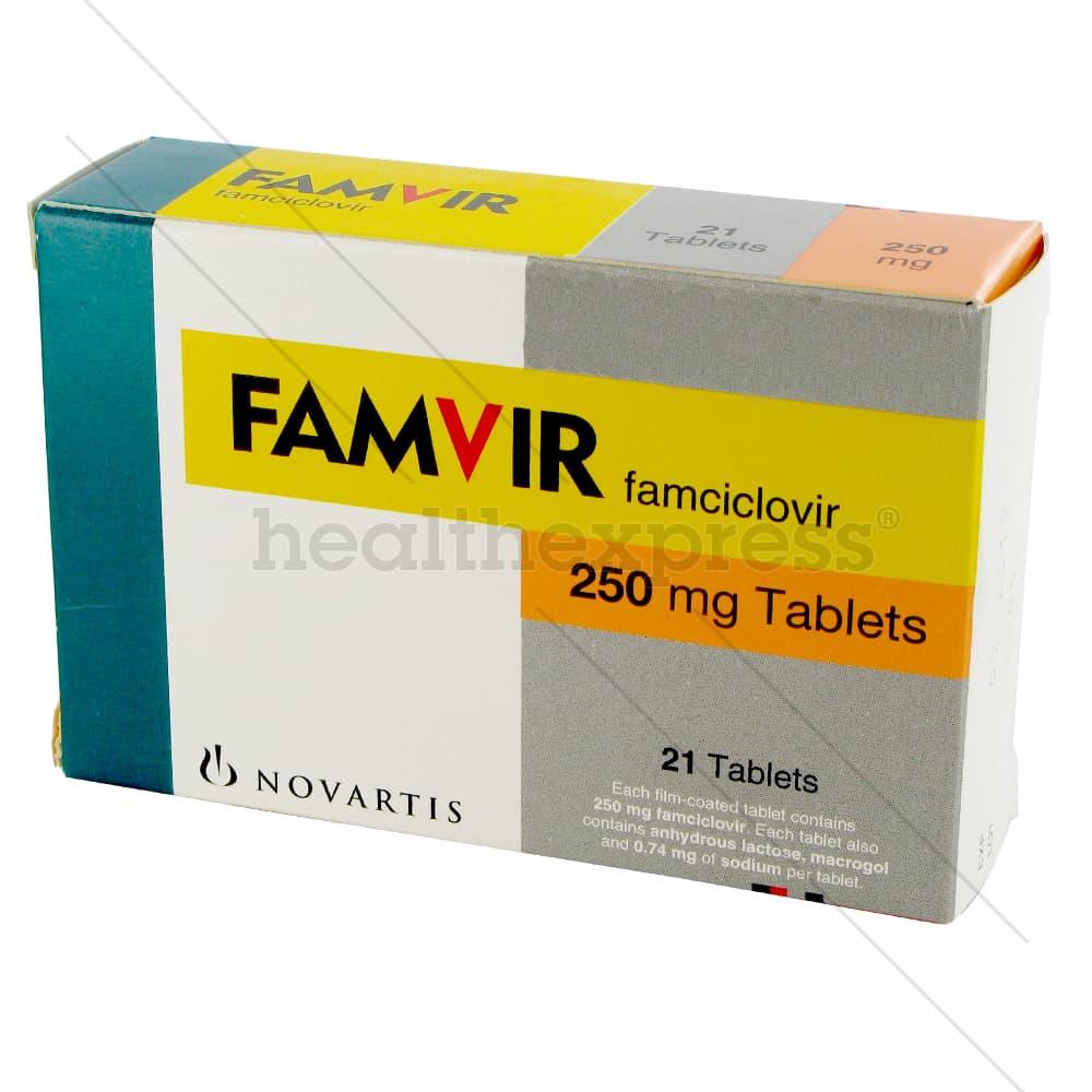 Famvir - køb Famvir 500 mg, 250 mg tabletter online i Danmark