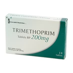 Trimopan pakke med 30 filmovertrukne tabletter af 100 mg trimethoprim
