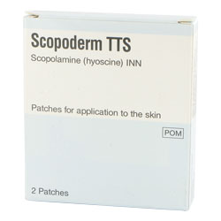 Lot de 2 patchs Scopoderm TTS (hyoscine)