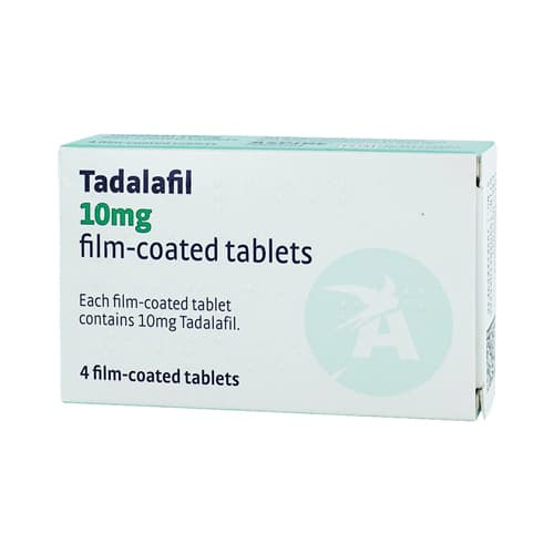 Pack of 4 Tadalafil 10mg film-coated tablets