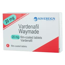 Pack of 4 Vardenafil 20mg film-coated tablets
