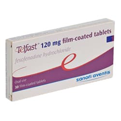 Box of Telfast tablets 120mg