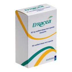 Box of Efracea capsules 40mg