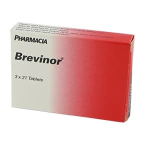Pack of 63 Brevinor tablets