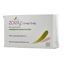 Pack of 84 Zoely 2.5mg/1.5mg nomegestrol acetate/estradiol film-coated oral tablets