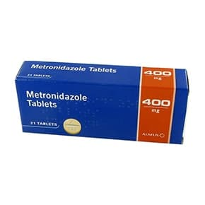 Pack of 21 Metronidazole 400mg oral tablets