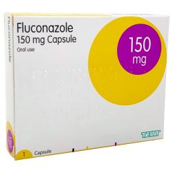 Box containing 1 tablet Fluconazole 150mg