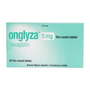 Onglyza 5mg saxagliptin film-coated tablets