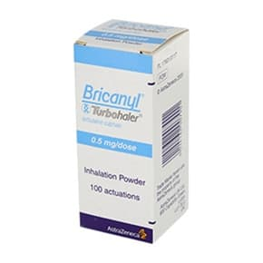 Pack of 1 Bricanyl Turbohaler 0.5mg/dose inhalation powder