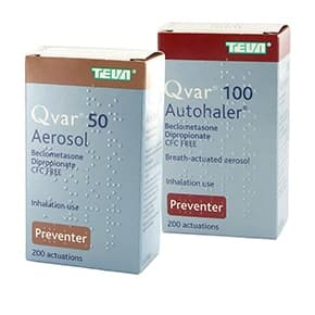 Pack of Qvar 50 Aerosol and Qvar 100 Autohaler