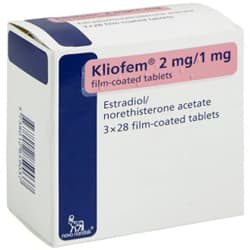 Pack of 84 Kliofem 2mg/1mg estradiol/norethisterone acetate film-coated tablets