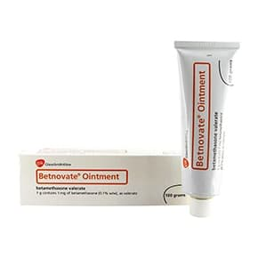 Box of Betnovate ointment with tube
