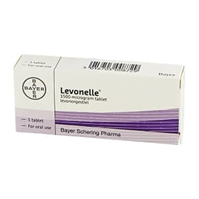 Box of Levonelle 1500mcg levonorgestrel oral tablet